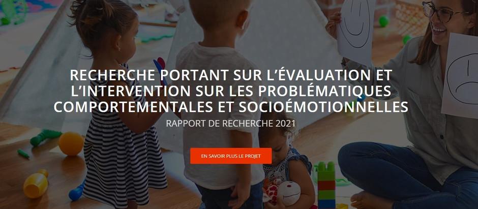 Rapport de recherche du projet sur les problématiques comportementales et socioémotionnelles