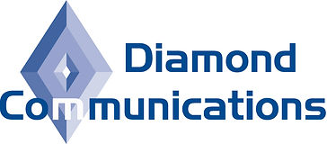 Diamond Communications Logo Blue no bi-l