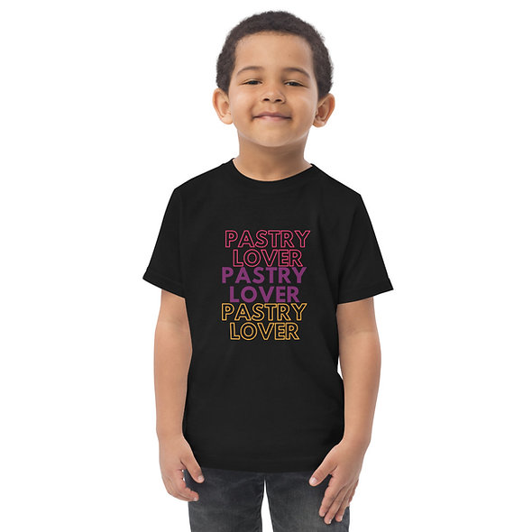 Pastry Lover Toddler jersey t-shirt