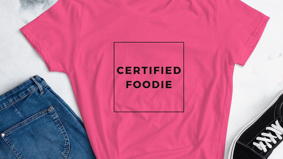 Women's Certified Foodie T-shirt
