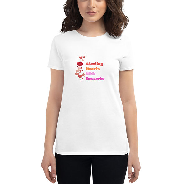 Women's Stealing hearts with desserts t-shirt
