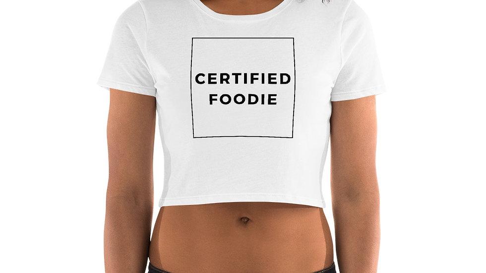 Women's Certified  Foodie Crop Tee