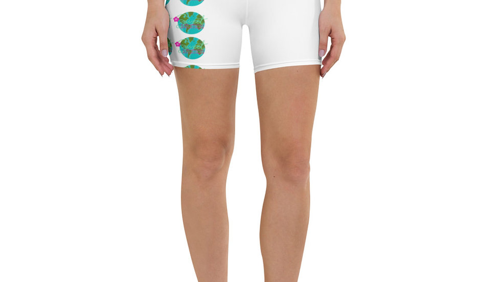Patterned Sweet Intuition World Yoga Shorts