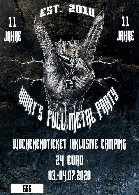 Wochenendticket - Harry's full Metal Party 2021