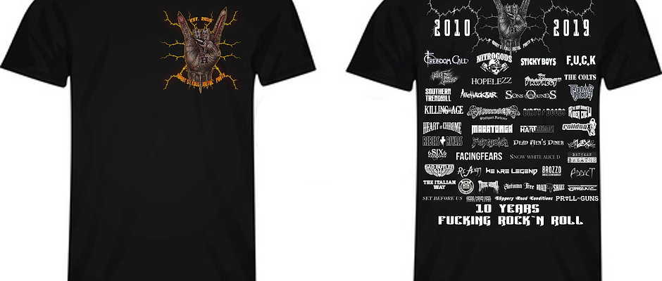 T - Shirt - Harry's full Metal Party Festival / 10 Jahre