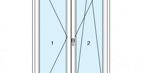 Dynamic 70 portafinestra 2 ante soglia ribassata