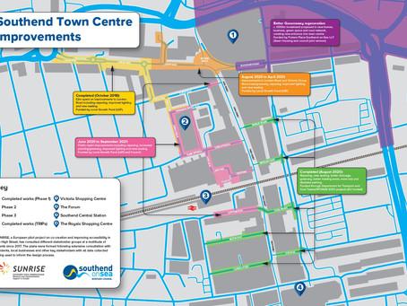 Improvement works to key town centre gateway are underway