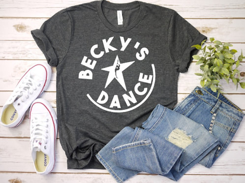 Becky's Grey Adult T-Shirt w/ White Circle