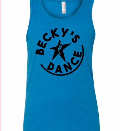 Becky's Blue Youth Tank w/ BlackCircle