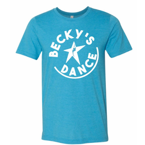 Becky's Blue Adult T-Shirt w/ White Circle