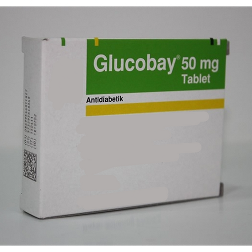 Glucobay 50mg (Acarbose 50mg) x 50 tablets