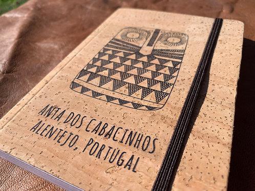 Notebook Cortiça Placa de Xisto