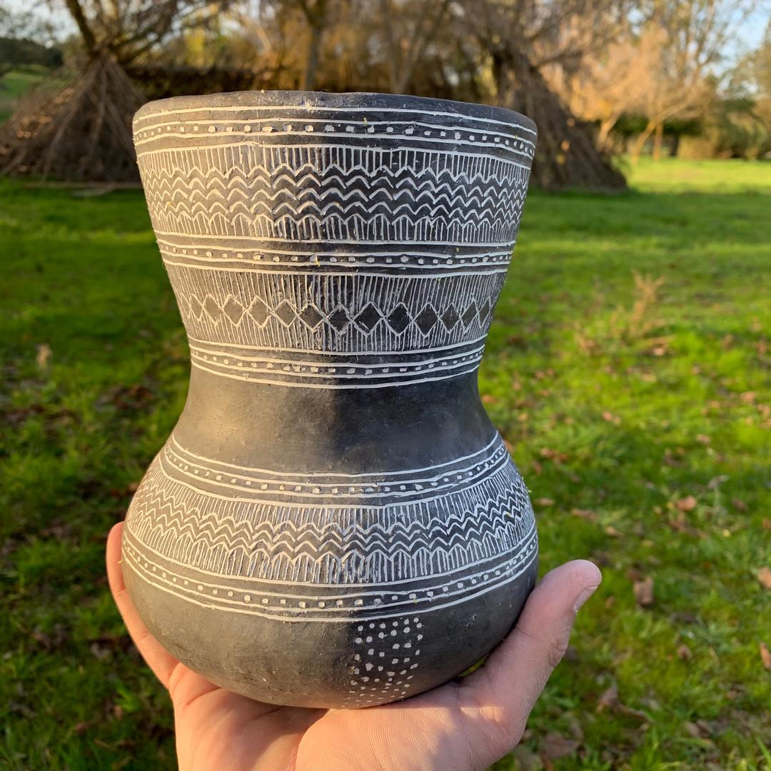 Reprodução de cerâmica pré-histórica