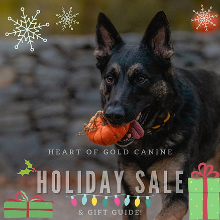 heart of gold canine german shepherd holiday gift card sale black friday small business saturday cyber monday deal