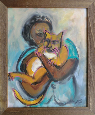 Woman with Cat - $300