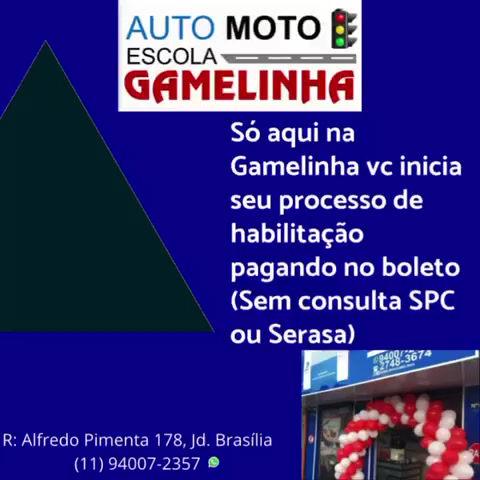 Gamelinha Auto Moto Escola Profissional! Venha já para Gamela!