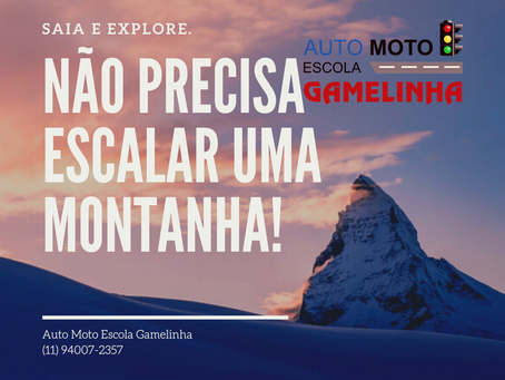Aqui na Auto Moto Escola Gamelinha você não precisa subir a montanha!
