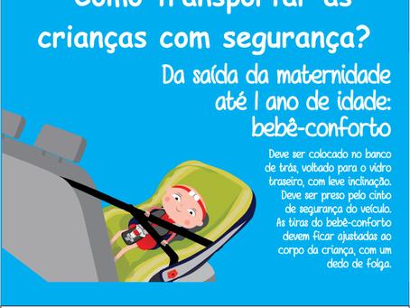 Como Transportar as crianças com segurança?