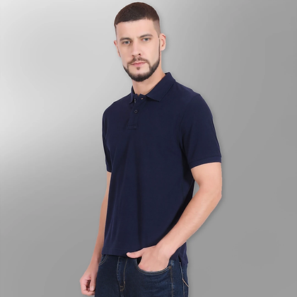 Plain Navy Blue Tees