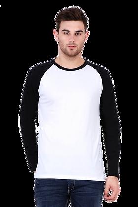 Black White Full Sleeve Raglan Tees
