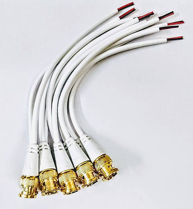 BNC Connector with Copper Wire Moulded -Pack of 5/10/20/30/40/50PCS