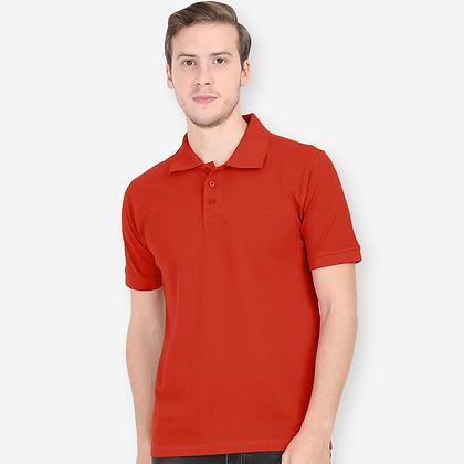 Plain Brick Red Polo Tees