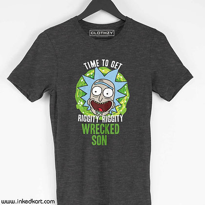 Wrecked son front print tees