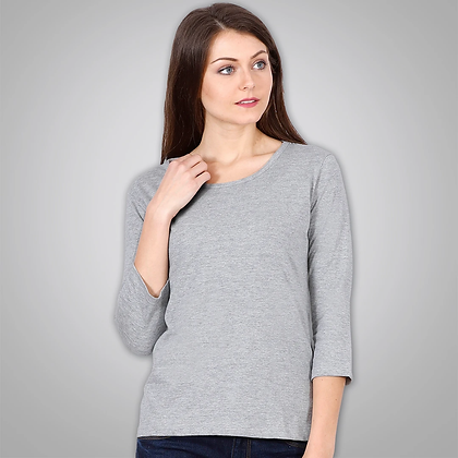 Light Grey 3/4th Sleeves Top