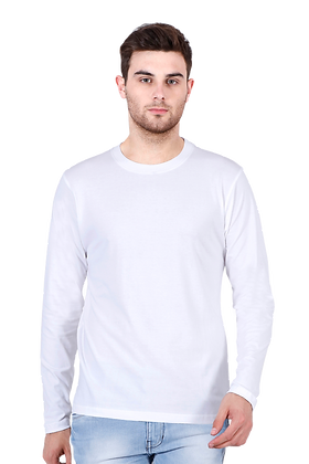 White Full Sleeves Round Neck Tees