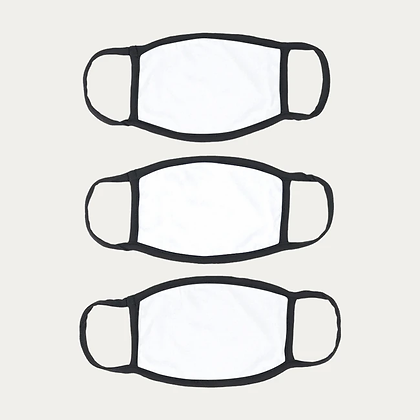 Cotton Masks PACK of 3 - WHITE+FREE SHIPPING