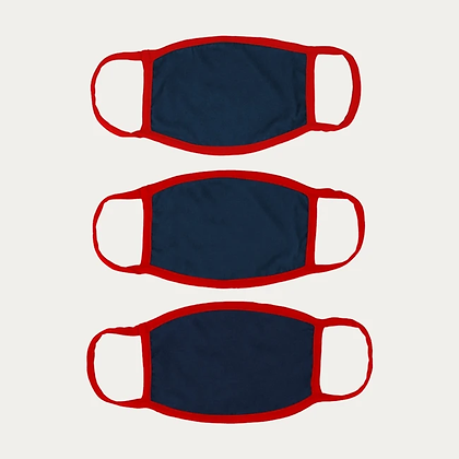 Cotton Masks PACK of 3 - NAVY BLUE+FREE SHIPPING