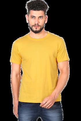 Golden Yellow Round Neck Tees
