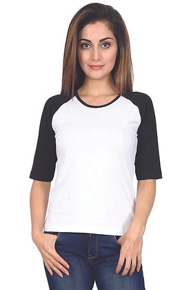 Black & white Raglan 3/4 sleeve