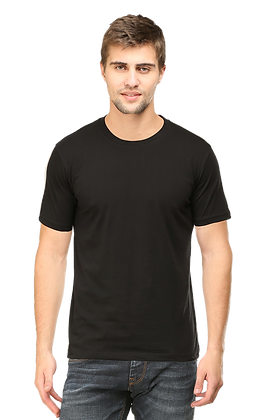 Black Round Neck Tees