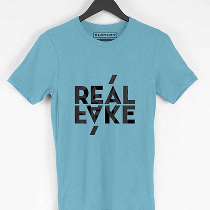 Real Fake sky blue tees
