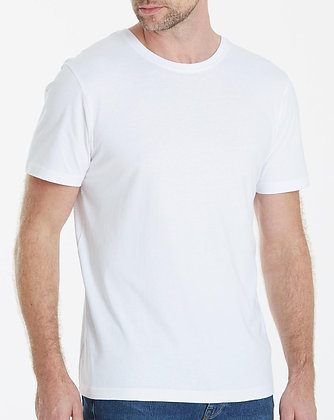 White Round Neck Tees