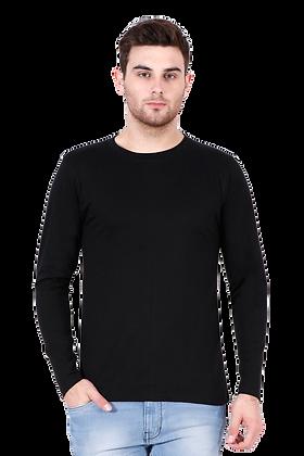 Black Full Sleeves Round Neck Tees