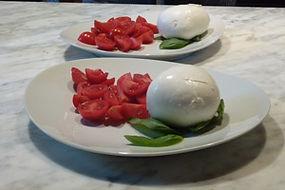 mozzarella basil and tomatoes