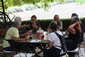 The Active Gourmet group refreshing after cycling in Provence