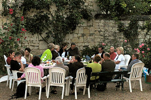 Loire cycling tour dinner