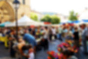 The Active Gourmet at a market in Provence