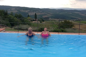 Tuscan villa pool