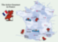 Tour map of France The Active Gourmet Travel