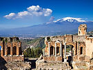 Ruins of the Greek Roman Theater, Taormi