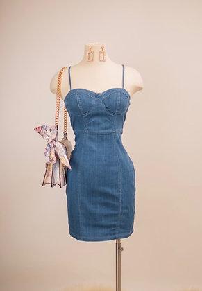 Simple Life Mini Dress- Denim