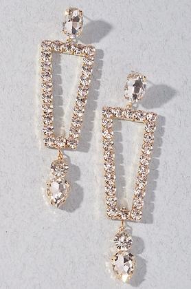 Clear Gold Earrings