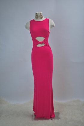 Perfect Mermaid Maxi Dress- Fuchsia