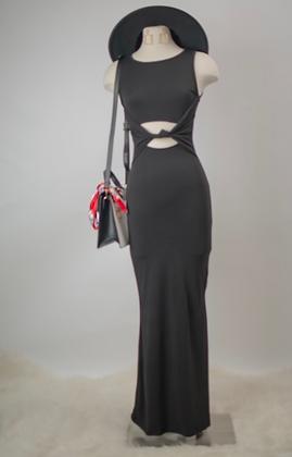 Perfect Mermaid Maxi Dress- Black