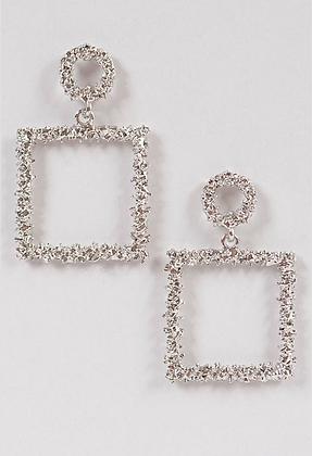 Glitter Square Earrings