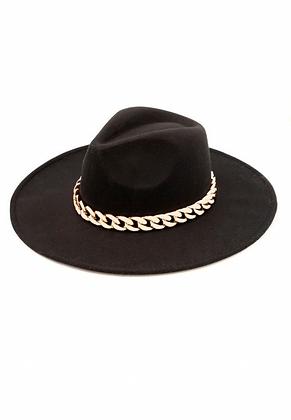 Cuban Link Fedora Hat